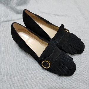 Marc Fisher Mabel Fringe Block Heel Loafers SZ 8.5